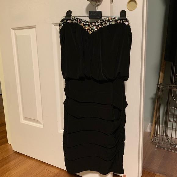 Deb Dresses & Skirts - Strapless black mini dress